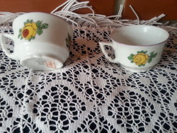 Zsolnay   virág mintás kávés csésze