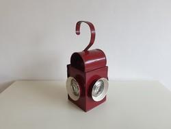 Régi vintage vasúti petróleum lámpa bakterlámpa fém vasutas lámpa