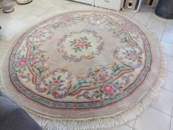 Színes különleges 205 cm kör  kézi  gyapjú szőnyeg ZS_01 ingyen posta