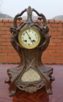 Szecessziós nagyméretű asztali óra 1900 körül