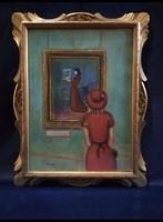 Valahol egy Múzeumban.... Szignált festmény
