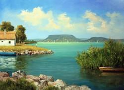 Lantos György: Balatonpart 50x70 cm