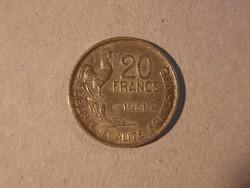 Francia 20 Frank 1951
