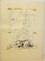 Kass János: Psalmus Hungaricus kép. Vadon erdőben bújdosnom. Gyűjtői darab.
