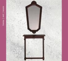 Ragyogó tükör törékeny konzolasztallal