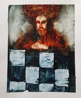 Győrfi András - 30 x 23 cm olaj, karton