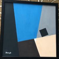 Balogh László' 3ox3o' konstruktív festmény'