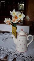 Vintage teás kanna tetővel