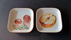 2 db. régi, KAHLA porcelán, kicsi -pici tálka, tányérka, alátét.