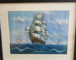 Hajós festmény