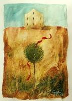 Győrfi András - 24 x 33 cm olaj, karton