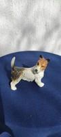 Porcelán kutya,Ens Volkstedt Terrier foxterrier