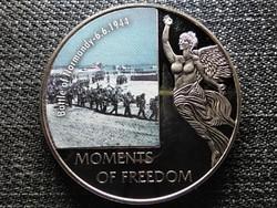 Libéria A szabadság pillanatai Normandiai partraszállás - 1944.06.06. 10 Dollár 2006 (id47373)