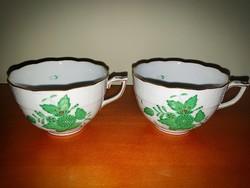 Nagyméretű Herendi Apponyi teás csésze 2db