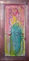 Indulás, Növekedés. 2 kép, 40x20 cm-es vászonra porcelánnal domborítva. Károlyfi Zsófia Prima díjas