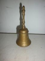 Régi réz cselédhívó csengő 11,5cm