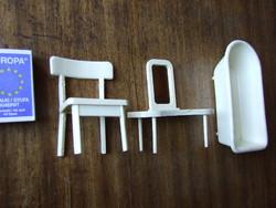 Régi, retró műanyag babaház bútor, baba kellék, fürdőkád