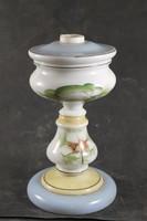Antik kézzel festett szakított üveg petróleumlámpa 781