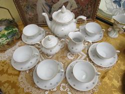 Aranyozással díszített barokkos jelzett teás készlet