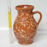 Fröcskölt, barna mázas népi kerámia tejes köcsög (1617)