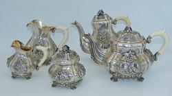 Álomszép antik bécsi 925-ös ezüst teás és kávés készlet - Jarosinksy & Vaugoin
