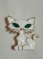 Zománcozott cica bross.