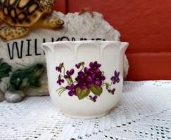 Gyönyörű  Gyűjtői Ibolyás  virágos, virágnak,  10*12.5  cm.  Gyönyörű darab