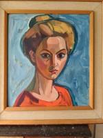 JÓZSA JÁNOS festőművész Mária portréja