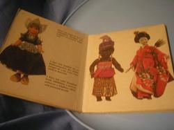 N10  Az én babáim nemzetközi babák bemutatója 1976-os könyv ritkaság