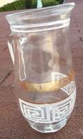 Nagy Moser stílusú díszcsíkkal üvegkancsó - kancsó