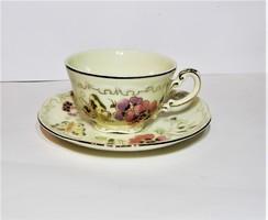Zsolnay Pillangó mintás kávés csésze aljával