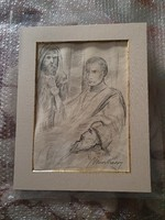 Charcoal drawing on paper for sale