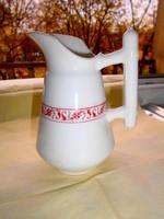 Antik -  vastag súlyos kávéházi porcelán kancsó - festői sorszámmal