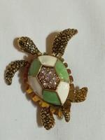 Teknősbéka bross.