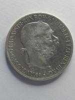 Ferenc József ezüst 5 Corona osztrák 1900