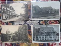Régi képeslapok, Anglia, 1930-as évek 8 db!