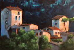 Tuscan night - akrilfestmény