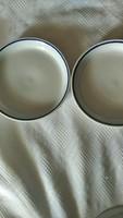 Kék csíkos Zsolnay tányér   2 cm mely. Párban