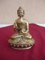 Egy szép és  súlyos réz Budha, 20 cm- 1,5 kg!