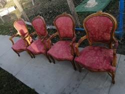 Neobarokk karfás székek
