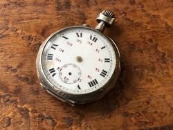 Férfi ezüst zsebóra 44 mm