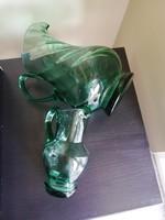 Üvegkancsók, zöld, formás, szép :-)