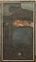 Varga Péter ( ?-?) A király madara 1980-ból c. festménye 114x64cm EREDETI GARANCIÁVAL !!