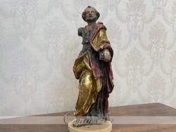 XVIII.sz Barokk faszobor (Szent Péter)