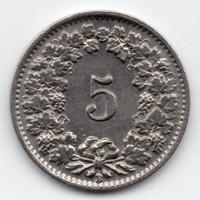 Svájc 5 rappen, 1939