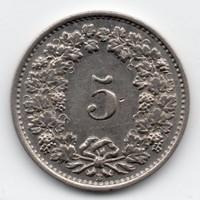 Svájc 5 rappen, 1934