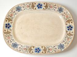 Gyönyörű, antik Villeroy & Boch nagyméretű pecsenyés tál / 1800-as évek
