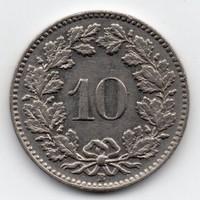 Svájc 10 rappen, 1939