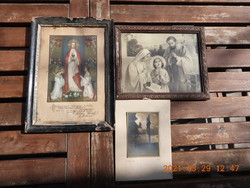 3 darab szentkép, vallási tárgy, fénykép