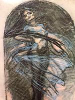"""Alfonz Mucha a szecesszió koronázatlan királya (1860-1939) múzeumi litográfia """"Studie Tanecnice"""""""